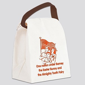 atheist_pledge01 Canvas Lunch Bag